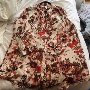 H&M floral tunic blouse
